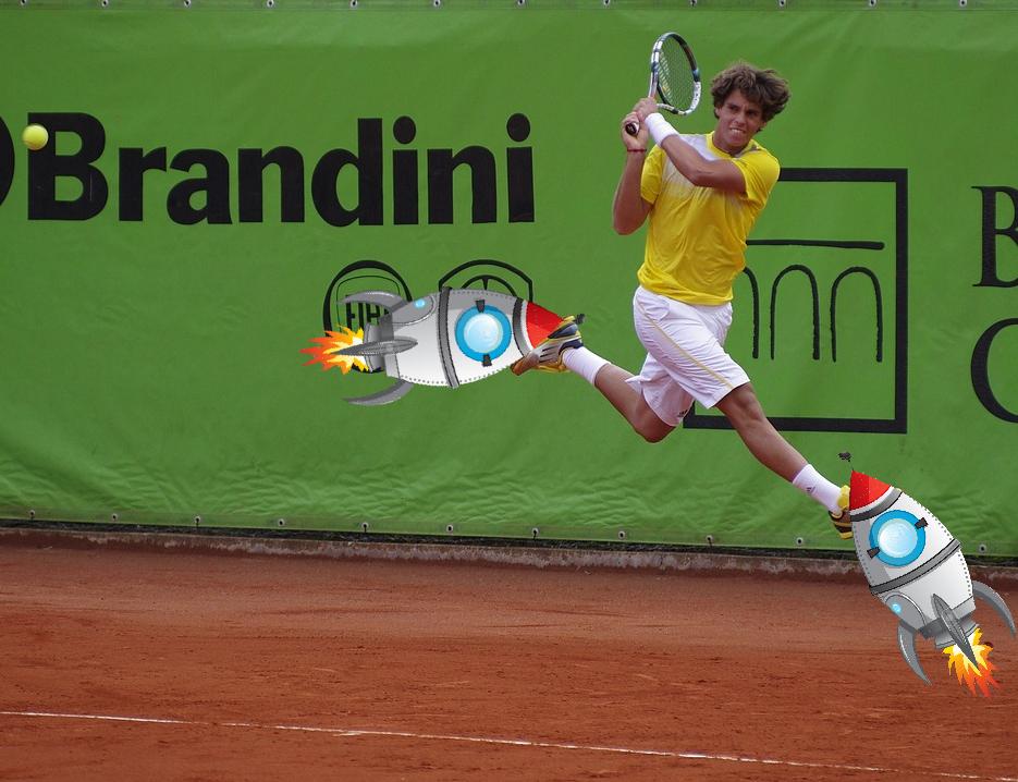 tennisschuhe und spieler mit besonderen eigenschaften