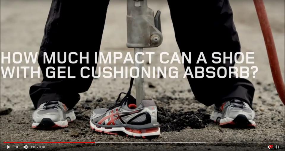 Asics Gel Dämpfung Video